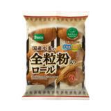 パスコ 国産小麦の全粒粉入りロール 6個